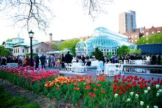 Brooklyn Botanic Garden, NY. A lovely area for a wedding reception.