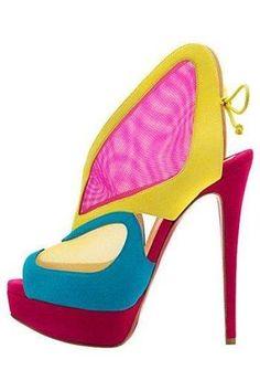 Laboutin color block   #shoes