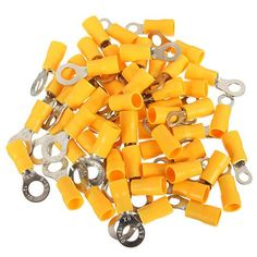 20pcs 4-6mm² Yellow Ring Heat Shrink Electrical Terminals Connectors. Description : 	 	20PCS 4-6mm² Yellow Ring Heat Shrink Electrical Terminals Connectors 	 	100% Brand new high quality insulated crimp terminals 	Allows visual inspection, prevents corrosion, and provided a waterproof seal 	Can be used in navigation and automobile applications 	Use a hot air gun until it reduces in size and the adhesive flows, filling gaps within the terminal 	 	Specifications : 	 	Color : Yellow 	Suits…