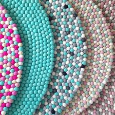 felt ball rugs - so cute for a play room! | for the home