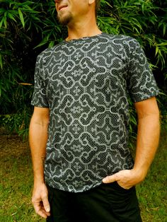 T-shirt design based on Shipibo patterns