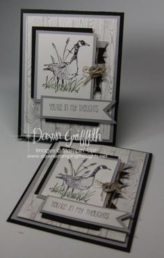 S/UP Wetlands stamp set. Youre in my Thoughts card.