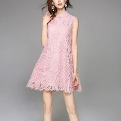 Pink lace Chinese Qipao dress Really well produced. It's recommended by my supplier. I order one for myself to wear in my little bachelor party with my girls Do you want one too? Limited supply. Price firm. Feel free to ask me anything! Happy Poshing! Dresses