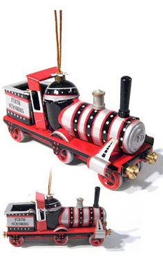 Christmas Steam Train Ornament