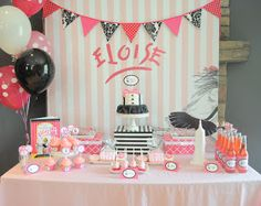 Serendipity Soiree:paperie. event styling. design: {Parties} Eloise at the Plaza! Part 1 - Dessert Table and Hotel Registration