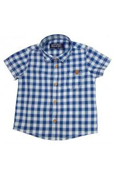 Camisa manga corta Primavera Verano color azul Mayoral