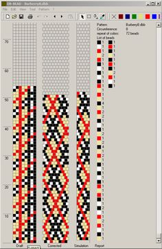 Burberry pattern bead crochet
