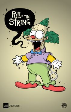 Krusty the Clown, The Simpsons: Treehouse of Horror Simpsons Drawings, Simpsons Art, Krusty Der Clown, Cartoon Art, Cartoon Characters, Es Der Clown, American Dad, 90s Cartoons, Futurama