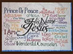 Free Cross Stitch Design His Name is Jesus Just Cross Stitch, Cross Stitch Charts, Cross Stitch Designs, Cross Stitch Patterns, Embroidery Applique, Cross Stitch Embroidery, Jesus On The Cross, Cross Stitching, Hand Sewing