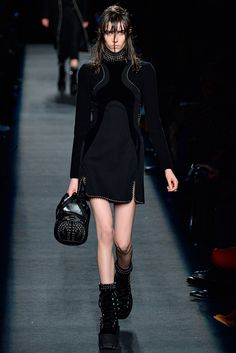 Alexander Wang-Fall 2015 RTW-Love the whole series of velvet paneled dresses-just beautiful!