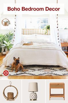 Create a whimsical bohemian master bedroom with natural decor & a hint of glam in bedding nightstands & accent ideas. Create a whimsical bohemian master bedroom with natural decor & a hint of glam in bedding nightstands & accent ideas. Bedding Master Bedroom, Dream Bedroom, Home Bedroom, Bedrooms, Boho Bedroom Decor, Bohemian Decor, Bohemian Living, Bedroom Ideas, Bedroom Inspo