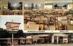 Morrison's Cafeteria on Silver Springs Blvd in Ocala. Ocala Florida, Florida Usa, Florida Travel, South Florida, Hav A Tampa, Morrisons, Vintage Restaurant, Cocoa Beach, Vintage Florida