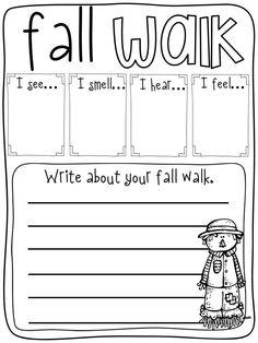 fun fall walk sheet
