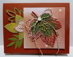 Lynn's Locker: Stampin' Up! Layered Leaves September 2017 Paper Pumpkin, Paited Harvest, Layering Squares - Alternate Card - III