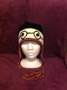 Harry Potter hand made crochet hat. Check out my facebook page...https://www.facebook.com/Crochetcupboard