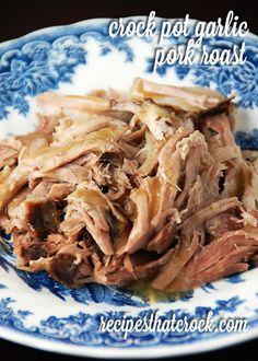 Garlic Pork Roast {Crock Pot} - Recipes That Crock!