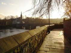 Chester, England - View of Handbridge from Chester city walls