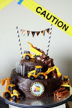Kara's Party Ideas Construction Themed Fifth Birthday Party