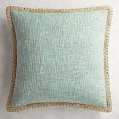 Chunky Jute-Trimmed Mineral Pillow Comfort and style combine in our jute-trimmed cotton pillow. Navy Blue Pillows, Gold Pillows, Throw Pillows, Decor Pillows, Farmhouse Style Bedding, Farmhouse Wall Decor, Coastal Farmhouse, Wood Picture Frames, Picture On Wood
