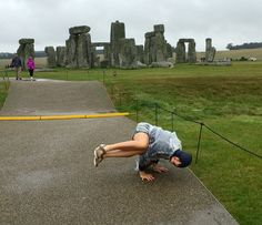 Spontaneous Yoga at Stonehenge! Yoga World, Stonehenge, Around The Worlds