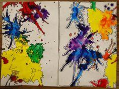 Adventures of an Art Teacher: Splashes of Color- My Examples Middle School Art Projects, High School Art, 7th Grade Art, Art Curriculum, Art Lessons Elementary, Art Abstrait, Art Lesson Plans, Art Classroom, Art Plastique