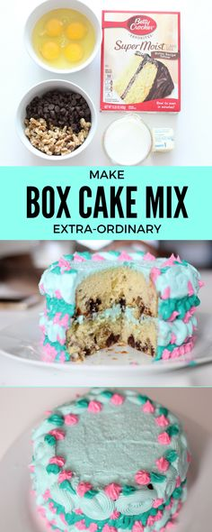 With a few ingredients, turn cake mix better.