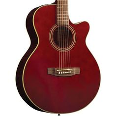 Takamine EG260C FXC Acoustic Electric Guitar EG260C-WR Wine Red. No, I never ever expect to own a guitar anywhere near this nice...but...just look at it! #red #acoustic #guitar