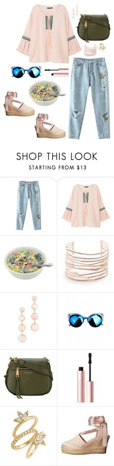 """""""Bowl-n-Spoon Cereal Bar"""" by walzfashion ❤ liked on Polyvore featuring MANGO, Alexis Bittar, Rebecca Minkoff, Marc Jacobs, Too Faced Cosmetics, Luv Aj and Tory Burch"""