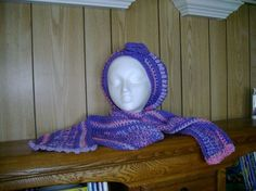 One of a kind, ladies or teenagers handmade hat and scarf set