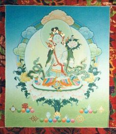 """""""...Anuttara Yoga Tantra, the highest Tantra. There are 21 Taras, so it is a name that refers to each one.The main characteristic of Arya Tara - Noble Tara - is that she is a Buddha who in earlier times promised to always be born in the pure form of a female body in order to help living beings reach enlightenment. There are many outer and inner impediments that practitioners encounter, so Arya Tara manifests in order to eliminate hindrances and obstacles..."""" ~ Chöje Lama Phuntsok"""