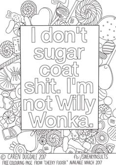 Free adult coloring pages - Sugarcoated Sugarcoated worddrawingsquotes Sugarcoated Swear Word Coloring Book, Quote Coloring Pages, Printable Adult Coloring Pages, Free Coloring Pages, Coloring Books, Colouring Pages For Adults, Colouring Sheets For Adults, Coloring Stuff, Stencil