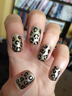 Cute leopard print. #animal #print #nail #art