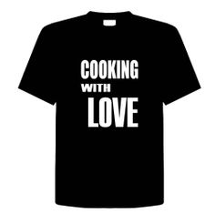 COOKING WITH LOVE Funny T-Shirt Novelty Kitchen, Cooking, Chef, Adult Tee Shirt Size (2X) XX-Large; Great Gift Idea for Mens, Youth, Teens, Adults