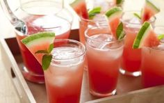 Watermelon Lemonade // Just imagine adding sparkling wine... OR VODKA! #spring #cocktail #recipe