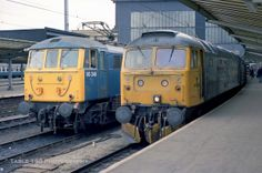 47470 'University of Edinburgh' and 86249 'County of Merseyside' at Carlisle on 18th Sept 1988.
