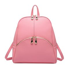 "Qianle Women Soft PU Leather Lovely Backpack Cute Schoolbag Shoulder Bag Pink. Product Material: faux Leather. Size: 28 *11.5*37CM (11.02""*4.53""*14.57""),weight: about 640g. Fashion shoulder bag/women's backpack/girls college bag. Zipper closure, a zipper bag both in the front and back, internal instructure: 1 cellpone pocket,1 card pocket and 1 small zipper pocket. Please note: Our product just sold from""Qianle"",15-20 days to delivery."