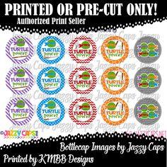 Printed  Precut: NINJA TURTLES  2701  1 bottle cap by KMBBDesigns
