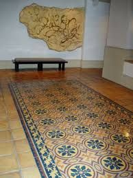 vintage terrazzo style inlay tiles - Google Search