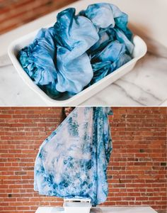 Ice Dye Tapestry | 9 DIY Dorm Decorations Even Lazy Girls Can Make | http://www.hercampus.com/life/campus-life/9-diy-dorm-decorations-even-lazy-girls-can-make