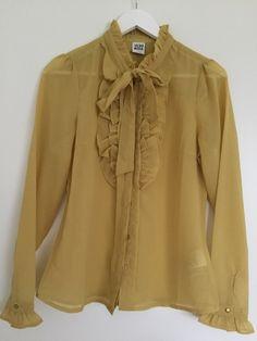 Senfgelbe Bluse von Vero Moda - kleiderkreisel.at