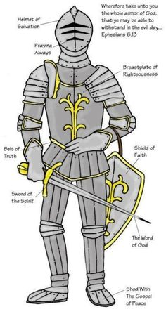 Put on the full armor of God so that you can take your stand against the devil's schemes    11Put on God's whole armor [the armor of a heavy-armed soldier which God supplies], that you may be able successfully to stand up against [all] the...
