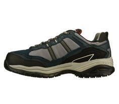 Skechers Work Men's Soft Stride Grinnell Composite Toe Work Shoes (Navy Blue) - 8.0 M