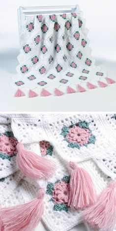 Blush Rose afghan, free pattern by Maggie Weldon. // NO WONDER I LIKE IT SOOO MUCH (hehe)....IT WAS MADE BY MAGGIE WELDON! I'M A BIG FAN! ♥A