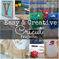 30+ Easy & Creative Cricut Projects
