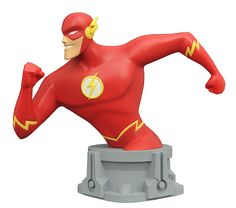 SDCC 2017 JLA ANIMATED SERIES FLASH RESIN BUST -  (SRP: $59.99) Limited to 650 pieces