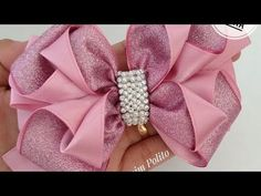 Diy Hair Bows, Diy Bow, Diy Ribbon, Ribbon Bows, Homemade Bows, Hair Bow Tutorial, Gift Bows, Boutique Hair Bows, Hair Beads