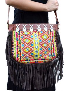 Fantastic Fringe Bag vintage boho chic bohemian tribal ethnic indo-western handmade handcrafted quirky gypsy unique pom-pom tassel made in india bags ideas antique beautiful cool awesome indian wedding festive festival diwali party desi designer earrings design bollywood colorful bright mandalas hand painted india fashion exotic fringe afghani traditional statement sangeet mehendi bridesmaid kutchi afghan crotchet pink yellow green blue red golden purple orange bridal style fashion etsy…