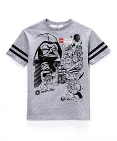 Another great find on #zulily! Gray Lego Star Wars Tee - Boys by Star Wars #zulilyfinds