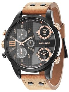 Brand: Police Authenticity: Genuine & Comes W/Original Tags EAN: 4895148650509 Dream Watches, Luxury Watches, Cool Watches, Watches For Men, Unique Watches, Daniel Wellington, Police Watches, Custom Design Shoes, Christmas Gifts For Men
