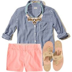 Preppy by preppy-horsegirl on Polyvore featuring J.Crew, Jack Rogers and Hollister Co.